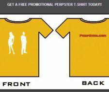 Gratis una camiseta Perpster